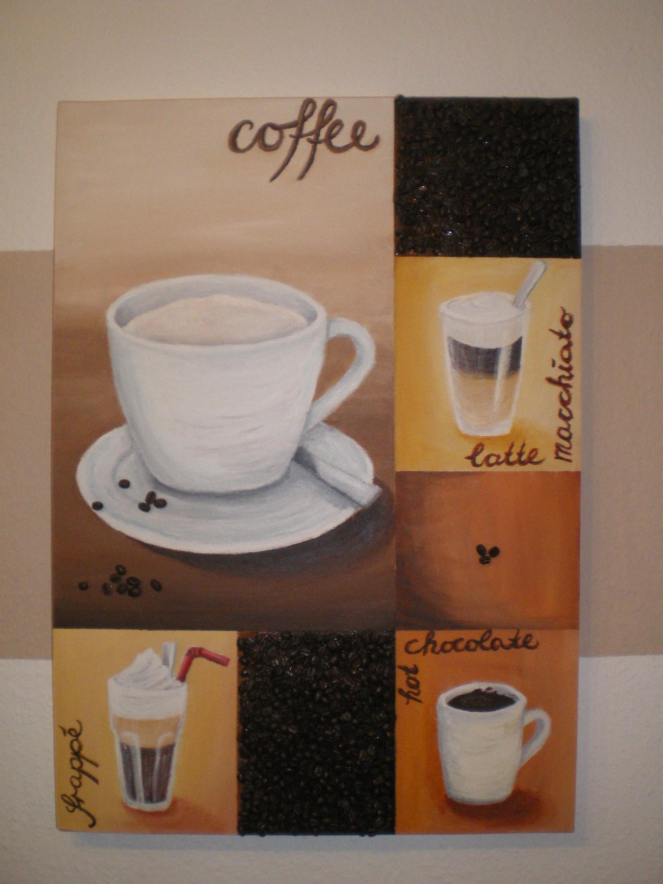Kunst In Der Küche Keilrahmen Bild Kaffeepause Nikakreativ