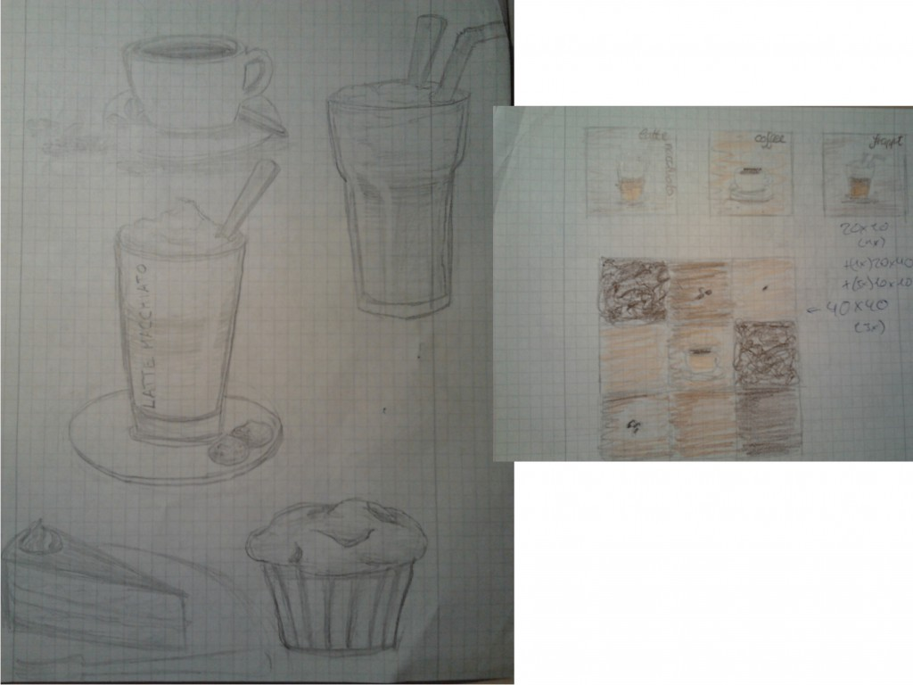 Skizzen Kaffeepause