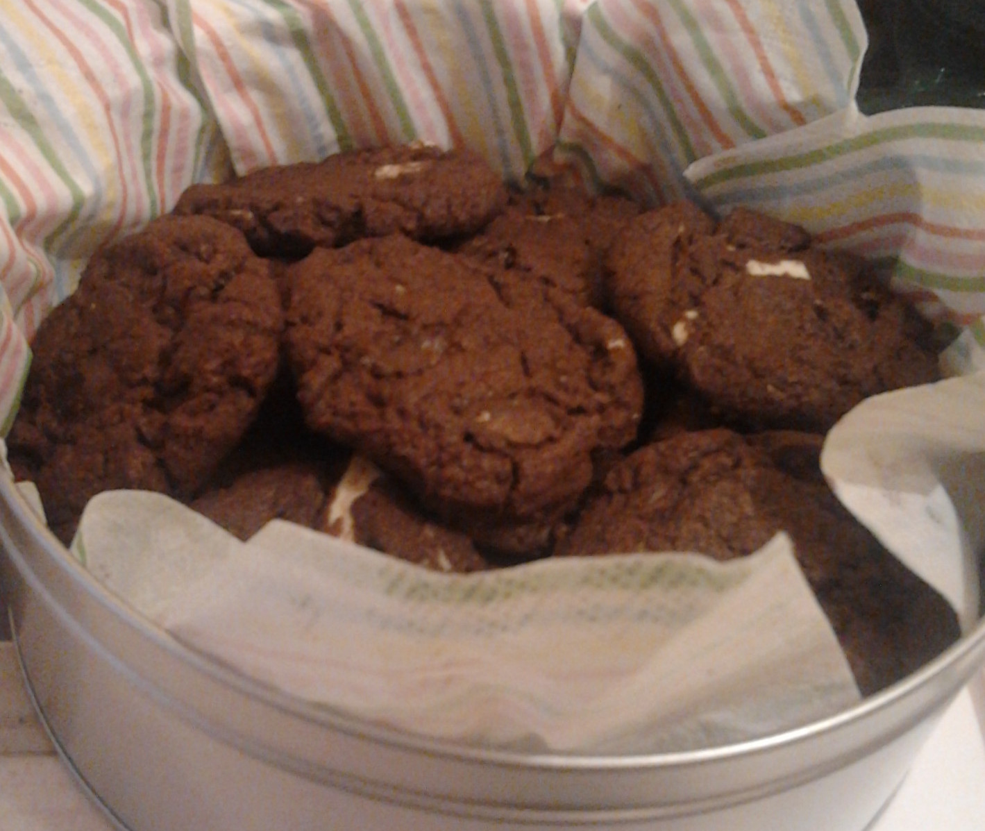 Triple Chocolate Cookies in der Dose