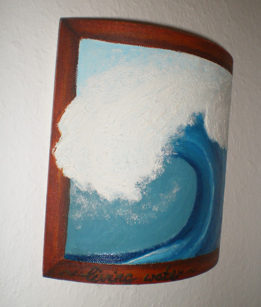 Keilrahmen Wave Detail links