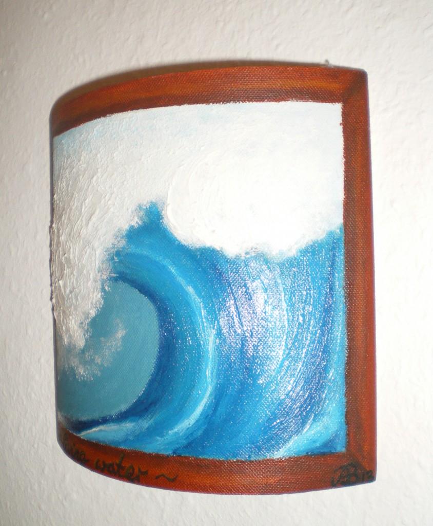 Keilrahmen Wave Detail rechts