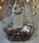 Triple-Chocolate-Cookies als Weihnachtsgeschenk Detail