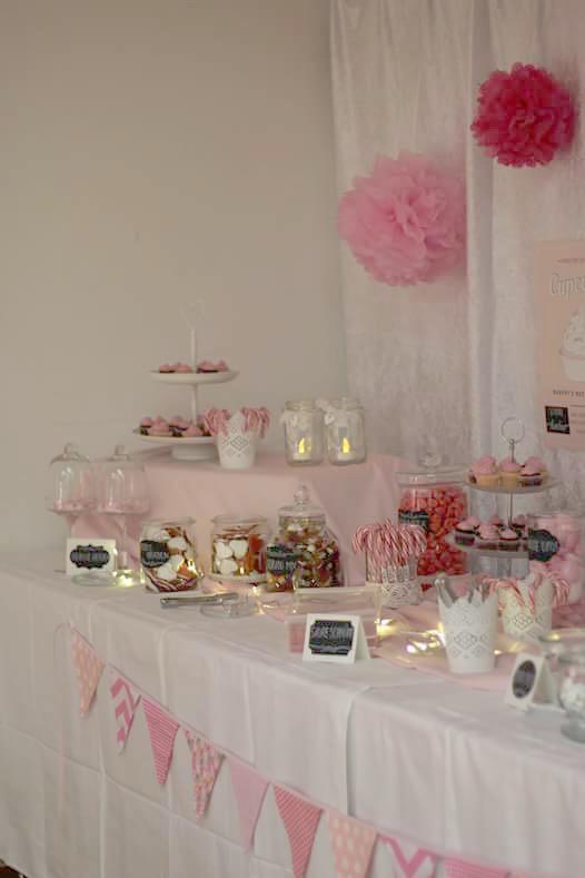 Candybar in rosa und weiß