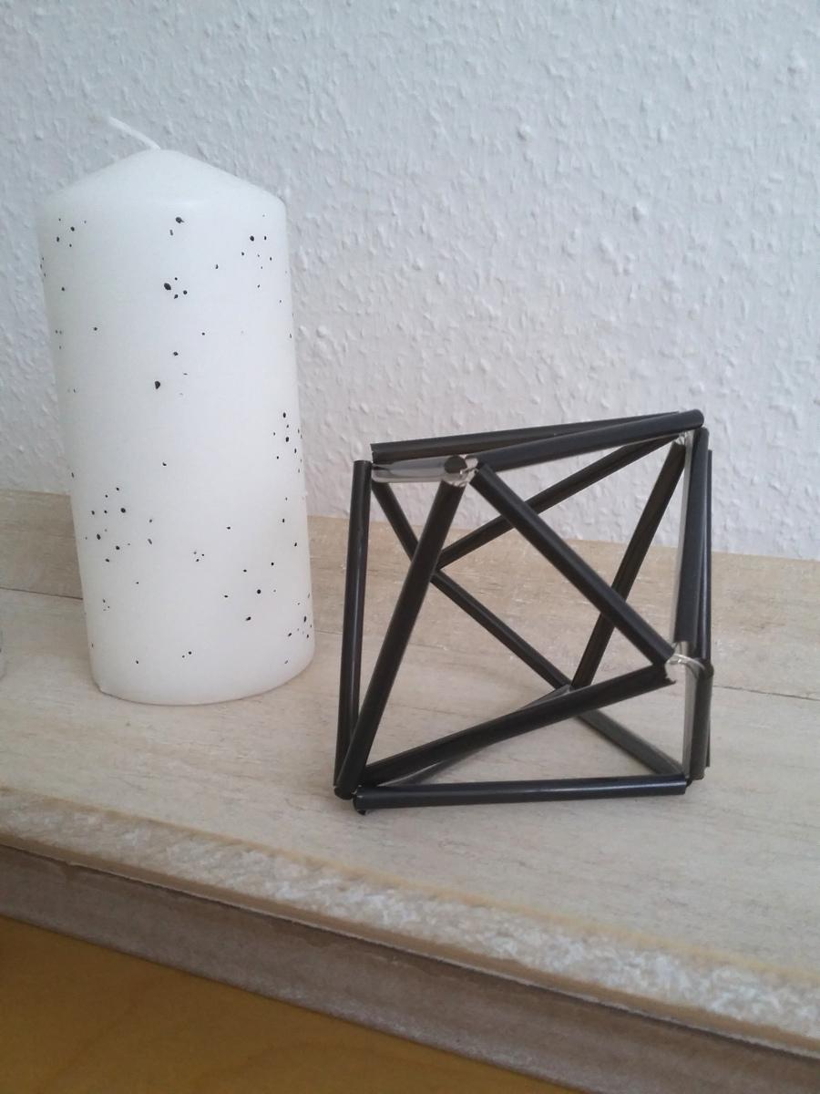 Diamant Aus Strohhalmen Geometrische Deko Von Nikakreativ