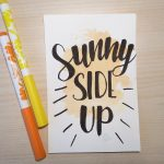 """Aquarellkarte mit Handlettering """"sunny side up"""""""
