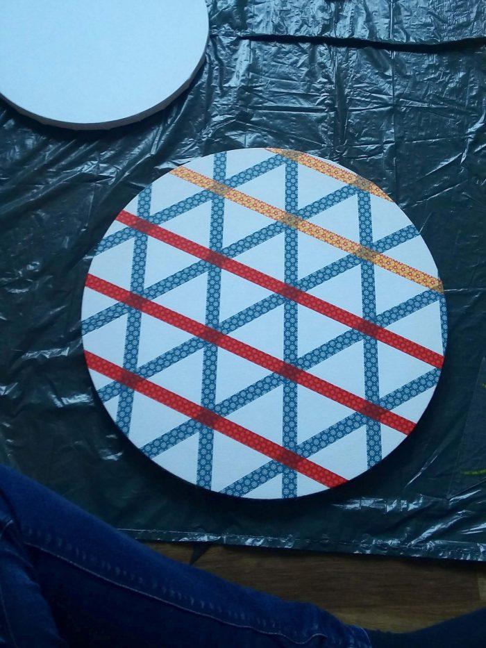 Keilrahmen im geometrischen Stil 1