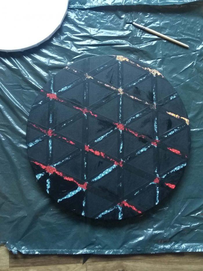 Keilrahmen im geometrischen Stil 2